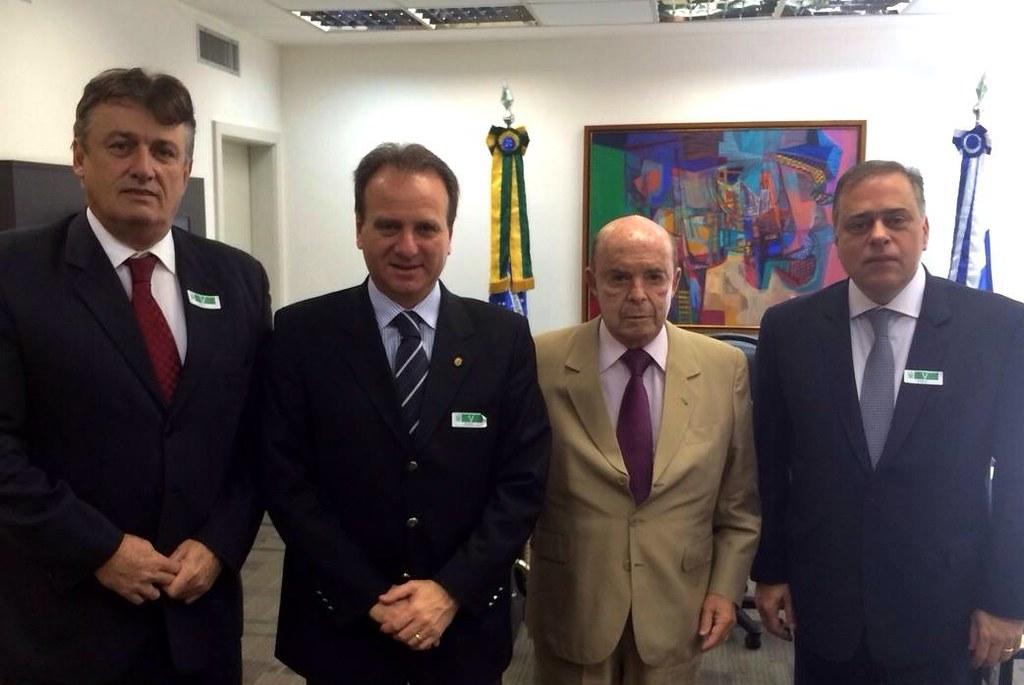 30 06 2015 - Rio de Janeiro Murilo Badaró, Bilac Pinto, Francisco Dornelles e Paulo Abi-Ackel