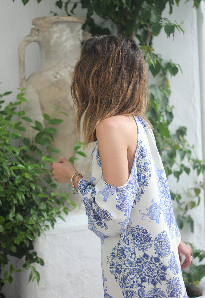 Summer White And Blue Dress Ibiza11
