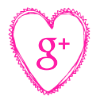 Free google plus pink heart social media icon