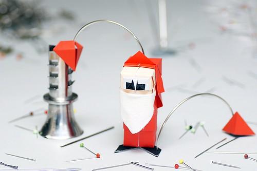 Origami Papá Noel (Carlos González Santamaría AKA Halle)