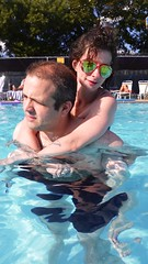Pete & Barbara In The Pool