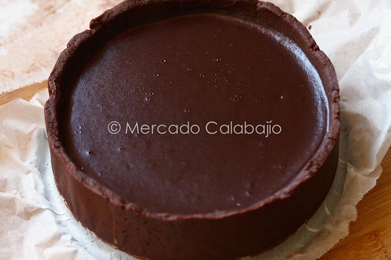 TARTA DE GANACHE DE CHOCOLATE CON CARAMELO SALADO-10