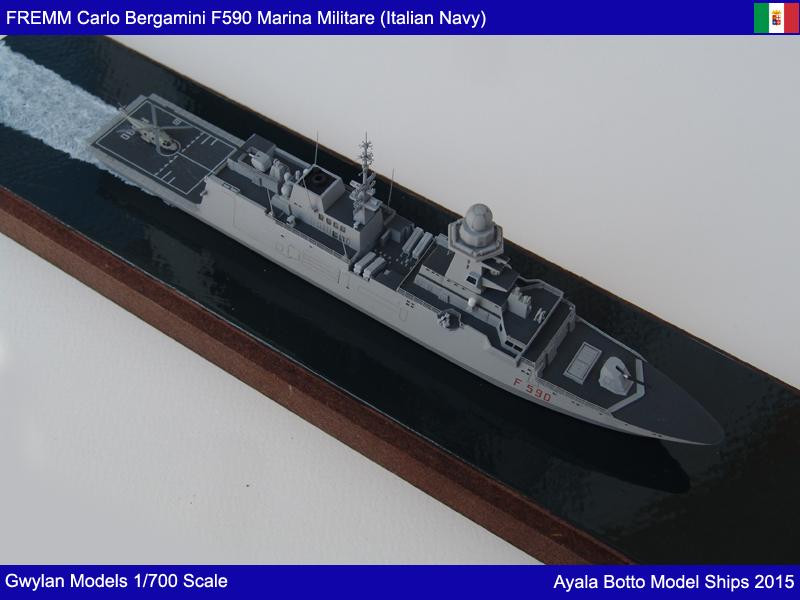 FREMM Carlo Bergamini F590 Frégate - Gwylan Models 1/700 19154007924_8be0c0a1f2_o