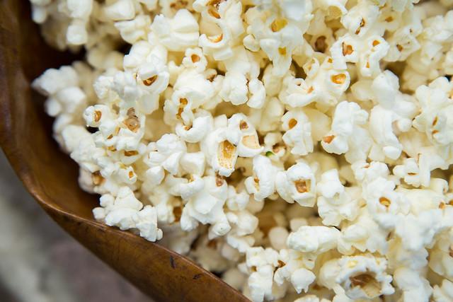 Jalapeño, truffle salt and garlic popcorn