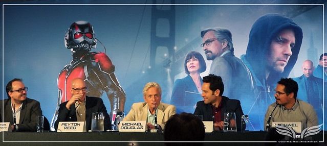 The Establishing Shot: MICHAEL DOUGLAS TALKS THE EXPERIENCE OF MAKING ANT-MAN @ THE ANT-MAN EUROPEAN PRESS CONFERENCE - CORINTHIA HOTEL LONDON