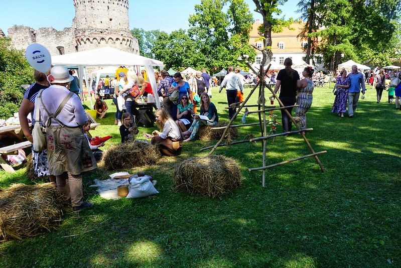 Events at Cesis castle's annual fair