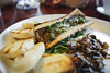 Bone Marrow w/ Arugula Pesto, Chantrelles, and Parmesan Baguette - Table 9