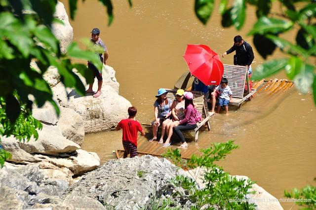 Tourists at Minalungao National Park