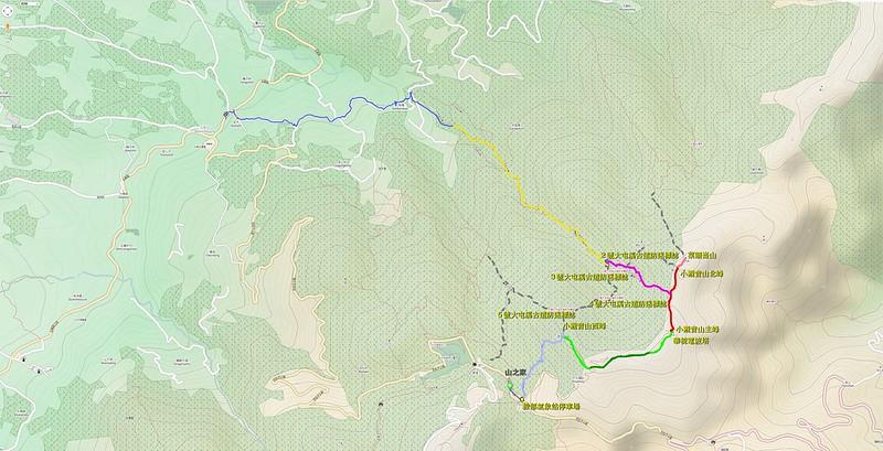 006、標示路線軌跡:小觀音山地形圖