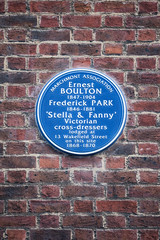 Photo of Ernest Boulton and Frederick Park blue plaque
