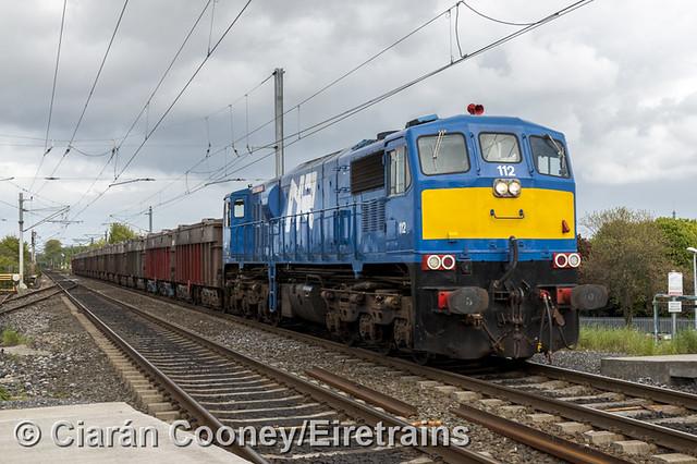 NIR 111 Class 112 on Tara Mines train, Clontarf