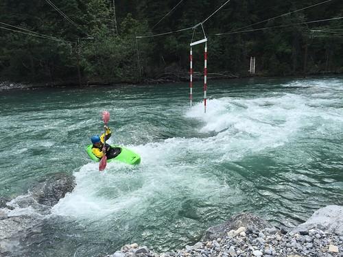 White water kayaking on the Kananaskis Trail