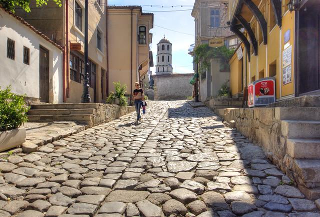 Une rue du Vieux-Plovdiv
