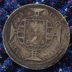 Brazil 1820R 960 Reis reverse