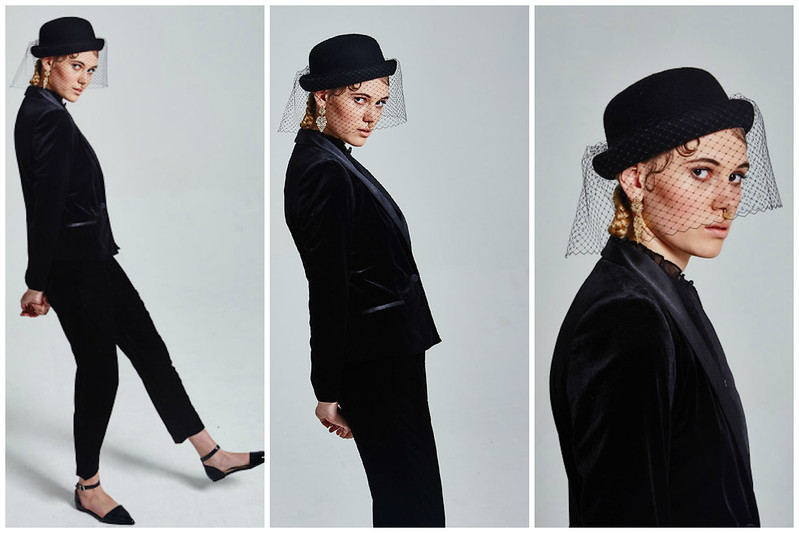 Express Yourself, Editorial, Stylist, Androgynous, Gender Neutral, Velvet, Suit, Givenchy, Thom Browne, Faux Septum Ring