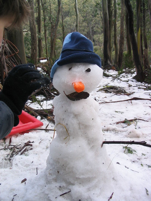 Snowman at Lake Mountain