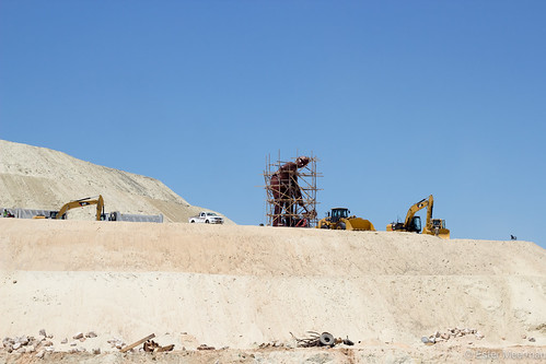 Final construction work and preparing for the opening of new bypass of the Suez Canal