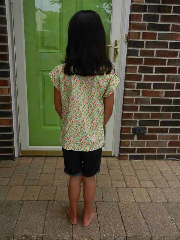 Mini Sutton blouse back
