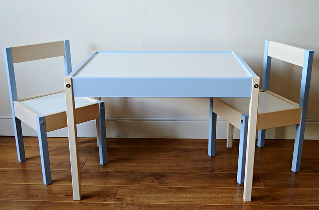 A DIY Makeover of the Ikea Latt Table & Chairs set.