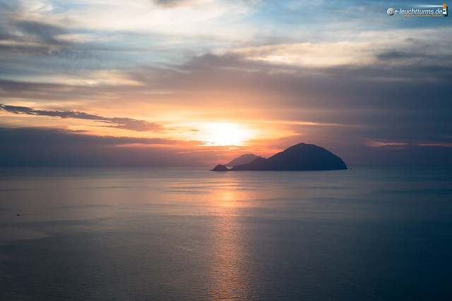 Aeolian Islands during sunset