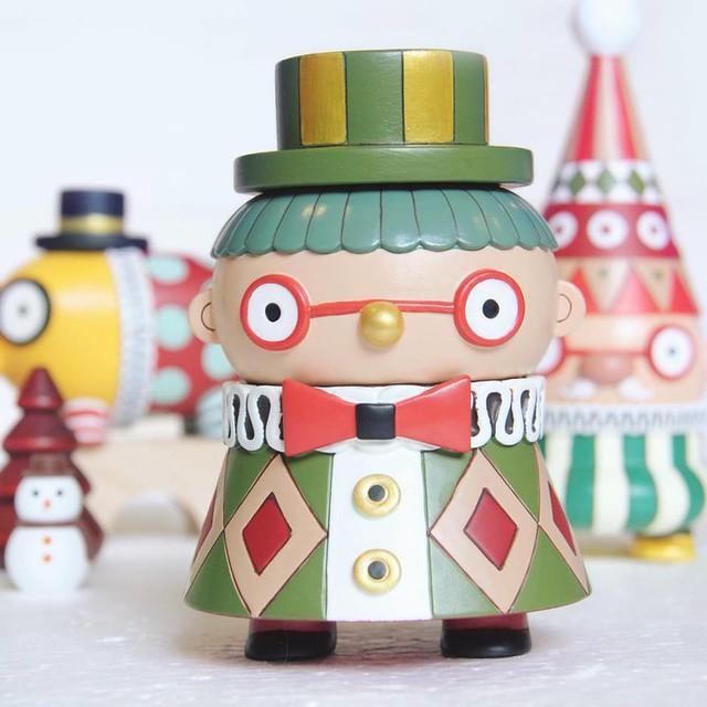 TOYSOUL 2016 PUCKY 畢奇【POOKIE 聖誕節系列、小丑外星人星空版】叮叮噹!叮叮噹!