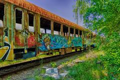 Der abgebrannte Zug