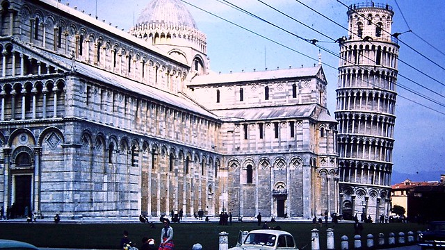 Leaning Tower of Pisa, Italy (1958)