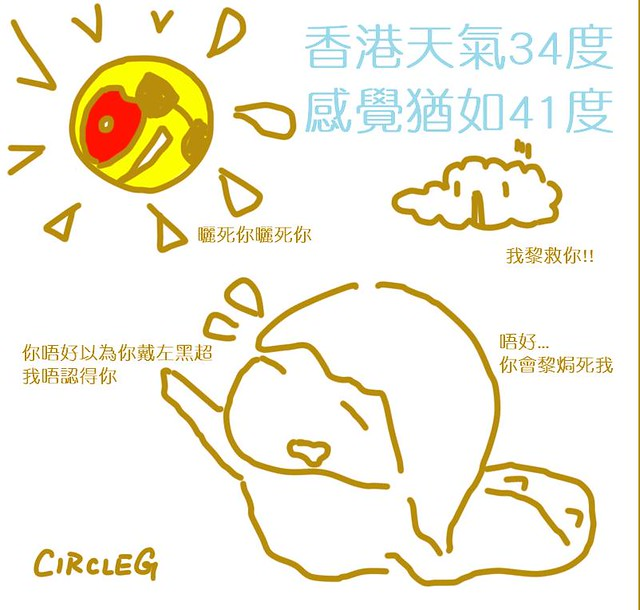 08082015 感覺41度香港 34度 CIRCLEG 小繪圖