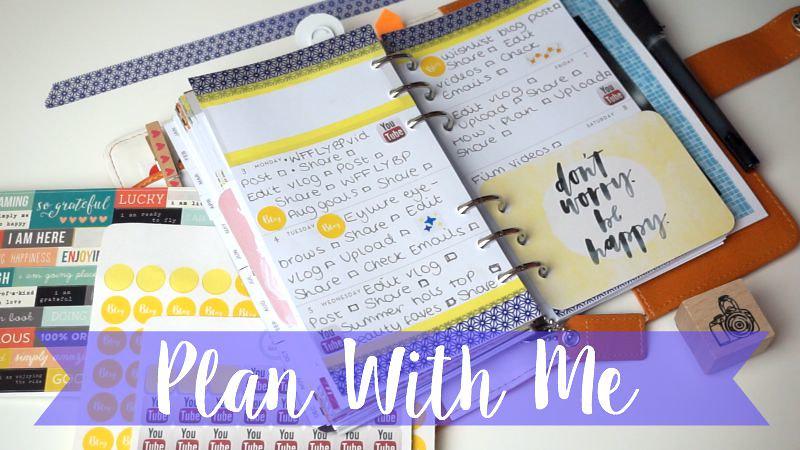 video, youtube, planner, plan with me, planner, websters pages, colour crush, how to