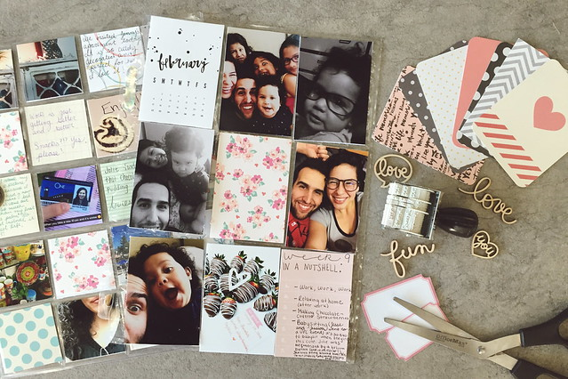 jasmine's pocket scrapbook // project life :: february 2015