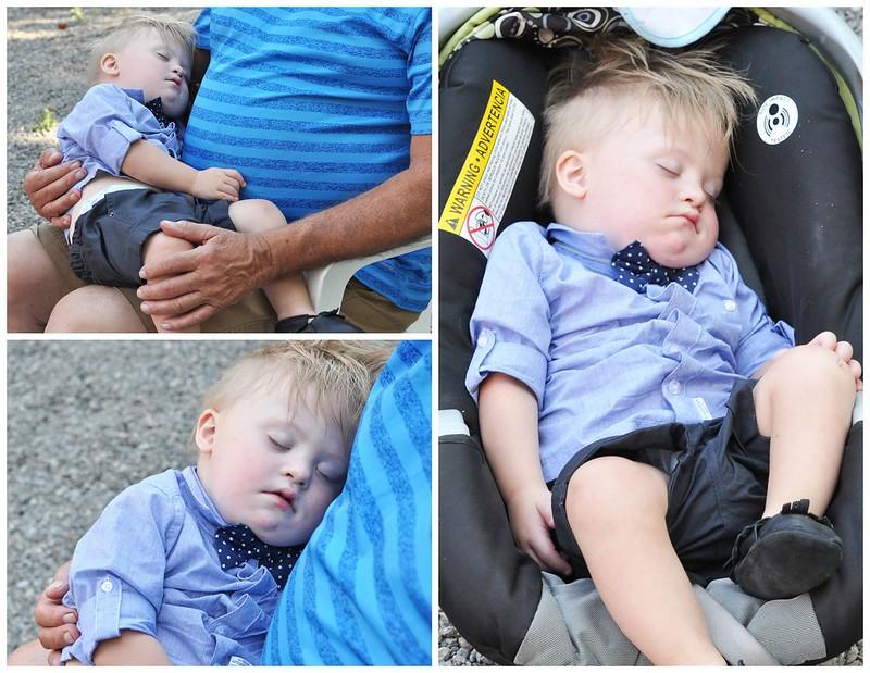 Liam sleeps