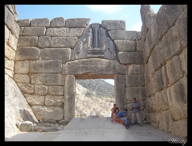 Grecia Atenas Corinto Epidauro Micenas Nauplia - Puerta de los Leones en Micenas