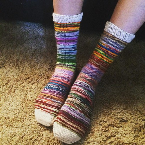 Latest pair of #monstersocks #blenders #knit