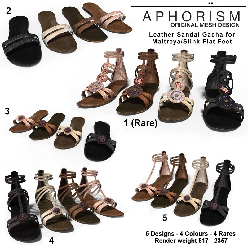 !APHORISM! Leather Sandals Gacha Key
