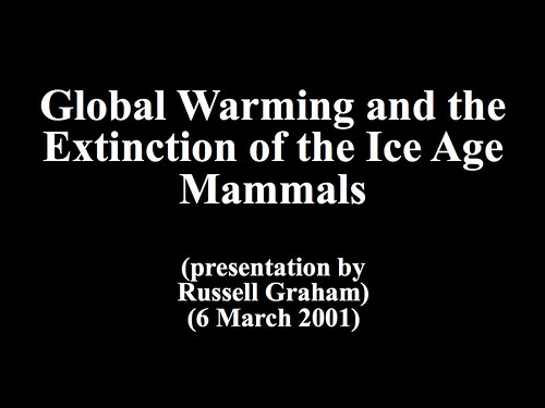 Global Warming and the Extinction of the Ice Age Mammals