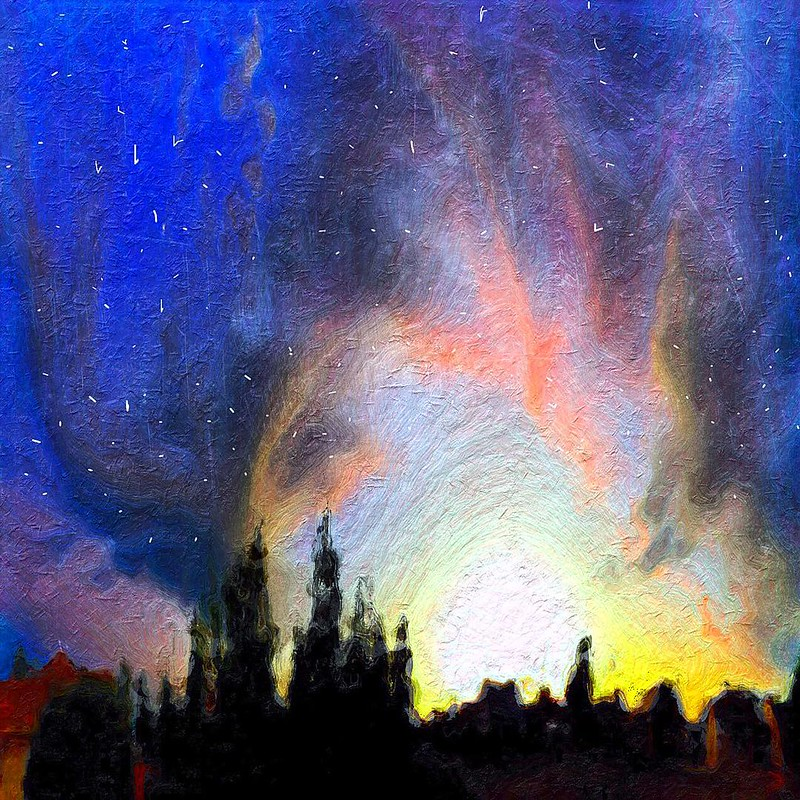 """""""Van Gogh's Starry Sunset"""""""