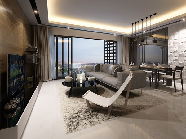 NK Residences - Living Room