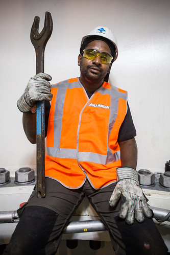 Hollandia Engineer and His Massive Spanner