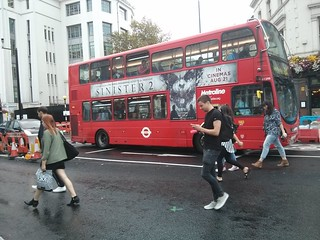 Bus overlaps gap to keep clear