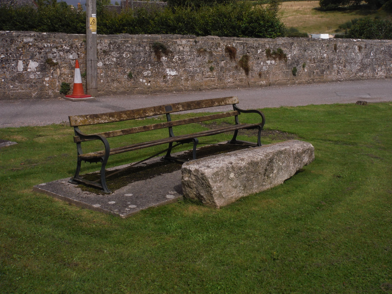 Bench, Fonthill Bishop SWC Walk 248 Tisbury Circular via Hindon