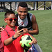 Charlie Davies and a fan take a selfie at Revs Training
