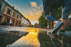 Sunset Reflections | Kaunas Old Town