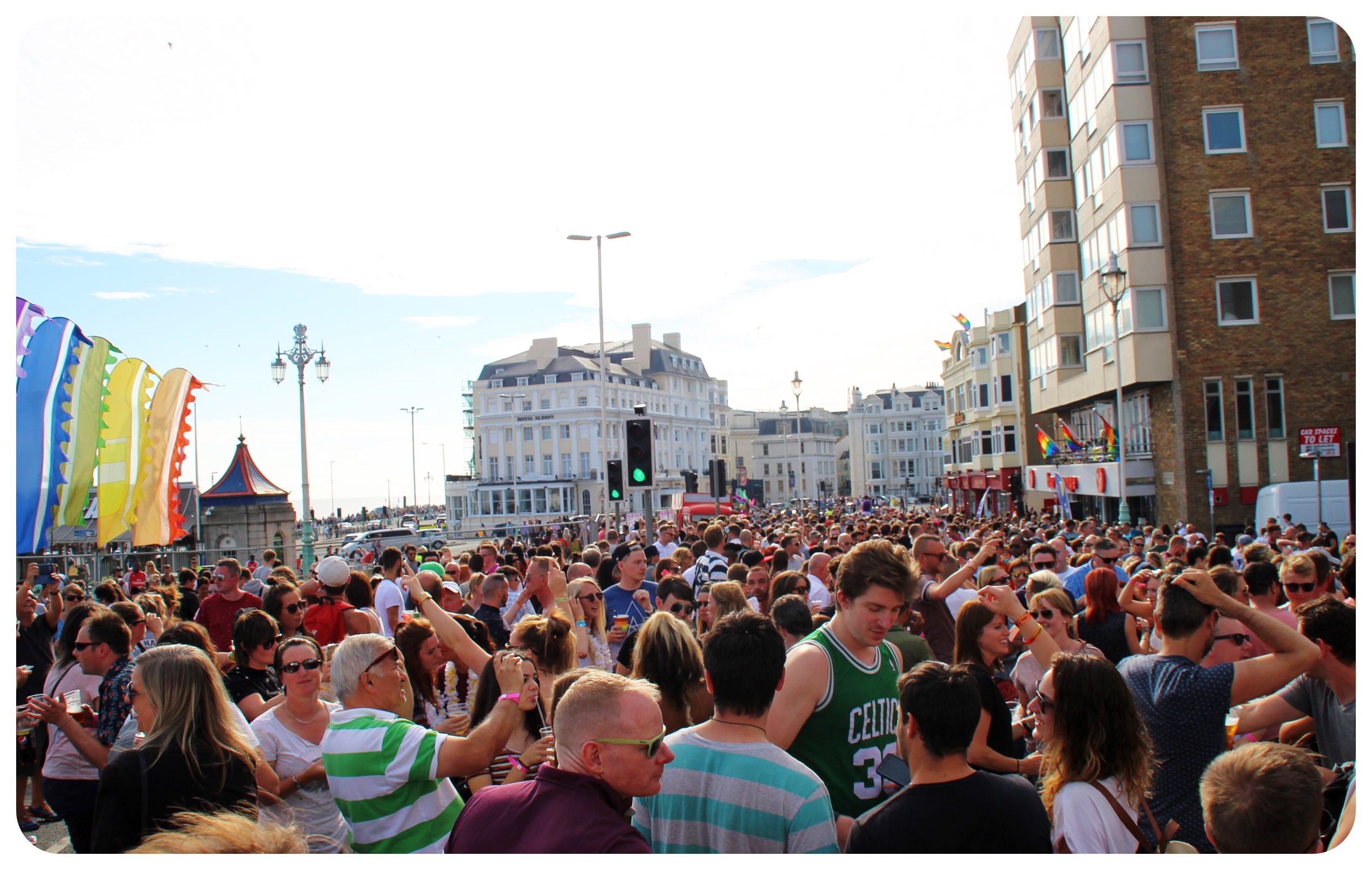 brighton pride street party 2015 crowds