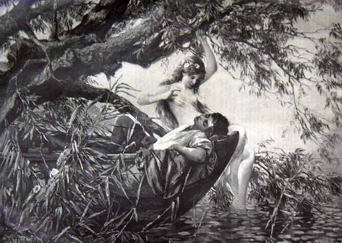 Русалка. Гравюра 19 стагоддзя