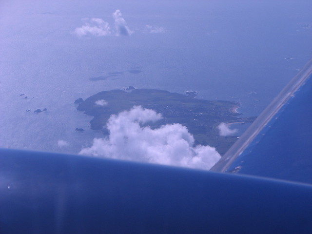 Passing over Alderney