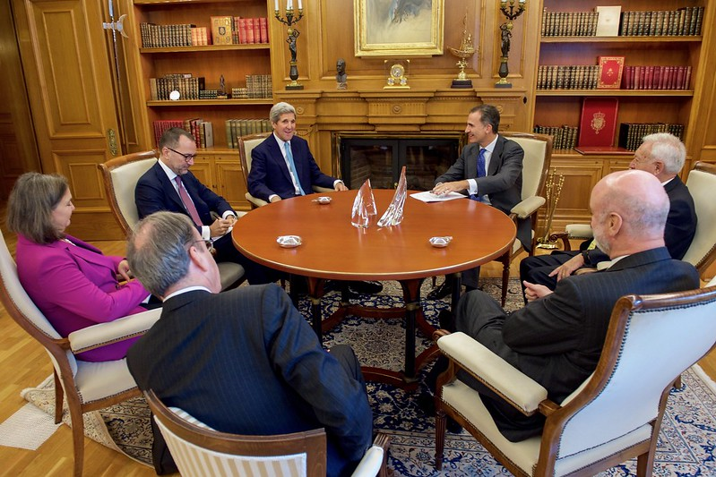 Secretary Kerry, Ambassador Costos, Assistant Secretary Nuland Meet With King Felipe VI of Spain, Spanish Foreign Minister Garcia-Margallo, and Spanish Ambassador Gil-Casares at the Zarzuela Palace in Madrid