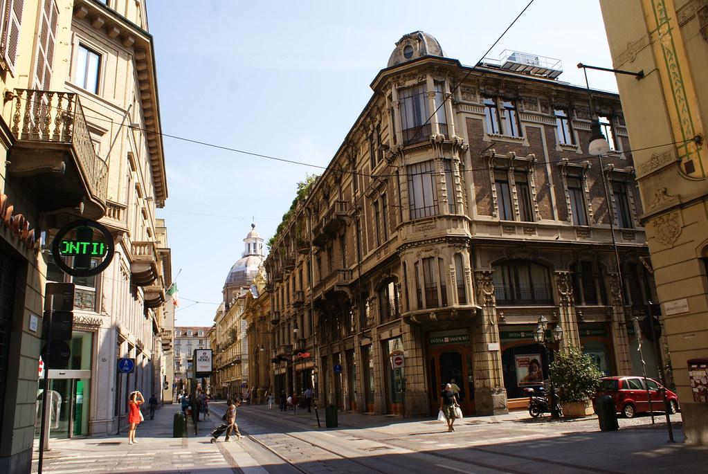 Artère du centre ville de Turin.