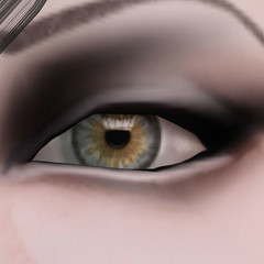 closeup of new RAY eyes from PXL