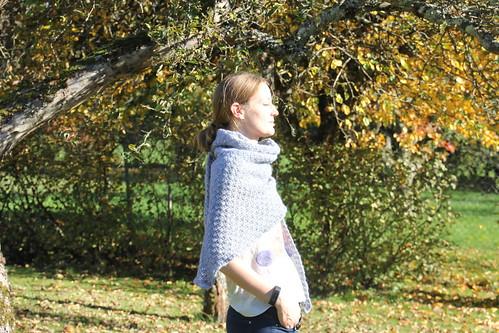 Mon grand châle au crochet pour l'hiver