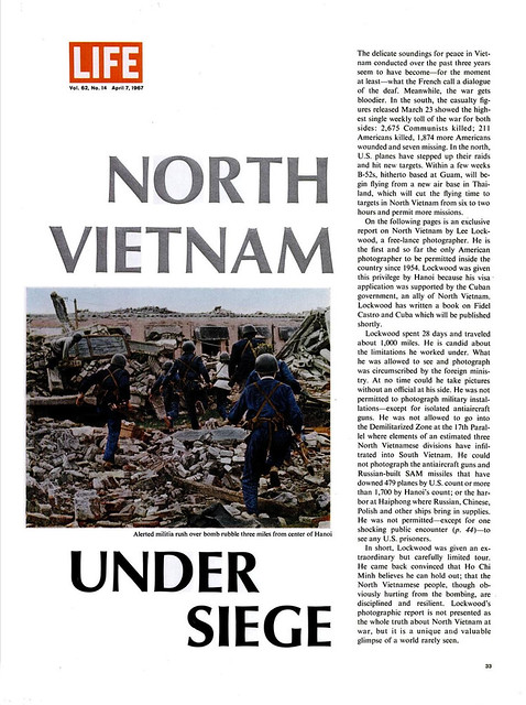 LIFE Magazine April 7, 1967 - NORTH VIETNAM UNDER SIEGE (2)